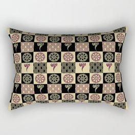 Tattoo Check Pattern Rectangular Pillow