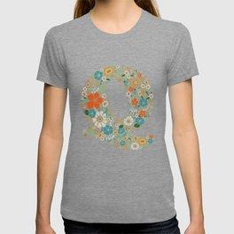 Hippie Floral Letter Q T-shirt