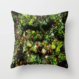 Old Tree Face Throw Pillow