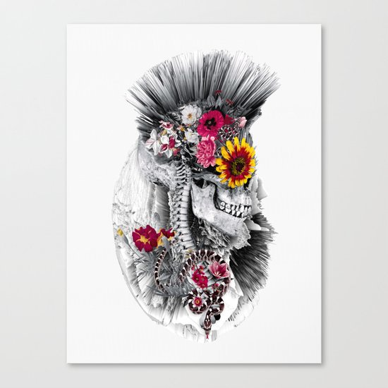 Momento Mori Punk Canvas Print