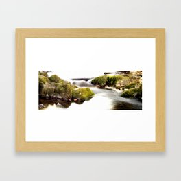 Untitled river Framed Art Print