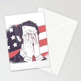 Abraham lincoln facepalm Stationery Cards
