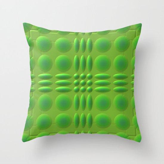 Puffy Green Throw Pillow