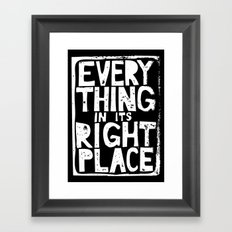 Everything in Its Right Place - Radiohead Framed Art Print