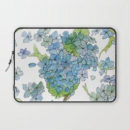 Blue Hydrangea Watercolor Laptop Sleeve