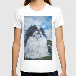 Japanese Chin dog art from an original painting by L.A.Shepard T-shirt