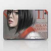 snk iPad Cases featuring SnK Magazine: Mik by putemphasis
