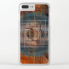 Unoccupied Digital Landscape Clear iPhone Case
