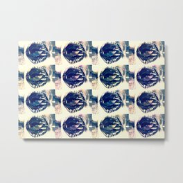 blue circles pattern Metal Print
