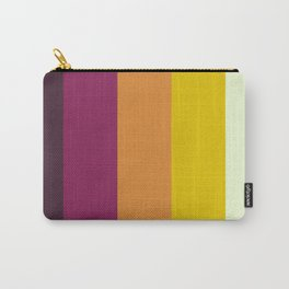Classic 70s Retro Stripes Carry-All Pouch