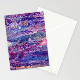 Psycho - Stream of Consciousness in Lively Color Flow by annmariescreations Stationery Cards