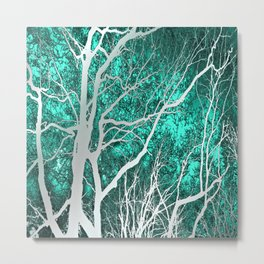 The Trees Know (green) Metal Print