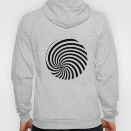 Black And White Op Art Spiral Hoody