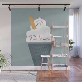 Ice Cream (Blue) Wall Mural