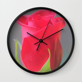 Rose Light by Reay of Light Photography Wall Clock