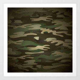 Military Camo Art Print