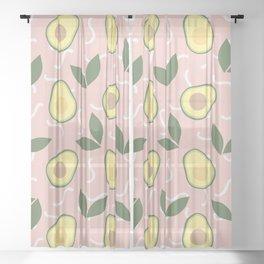 Avocado Fiesta Sheer Curtain
