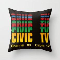 CIVIC TV Throw Pillow
