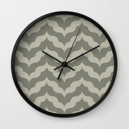 Juliet in Khaki and Gray Wall Clock