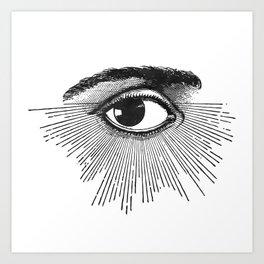 I See You. Black and White Art Print