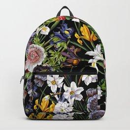 Vintage & Shabby Chic - Lush baroque flower pattern Backpack