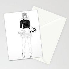 Miss Snow Leopard Stationery Cards