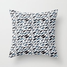 Indigo shoal Throw Pillow