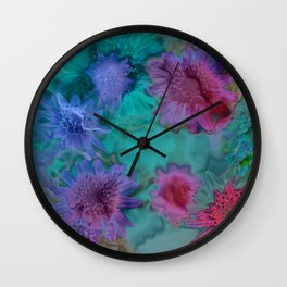 Flowers abstract #2 Wall Clock