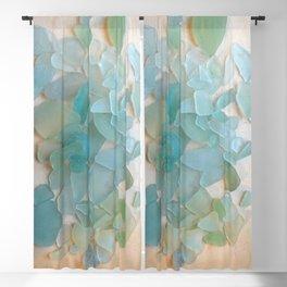 Ocean Hue Sea Glass Blackout Curtain