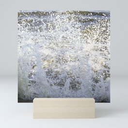 Sea wave splash Mini Art Print