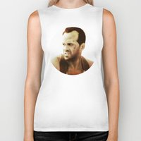 die hard Biker Tanks featuring Die Hard by Alexia Rose