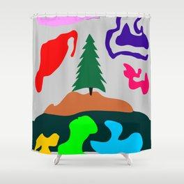 Grayed Limbo Shower Curtain
