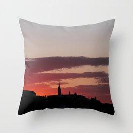 Sunset  - JUSTART © Throw Pillow