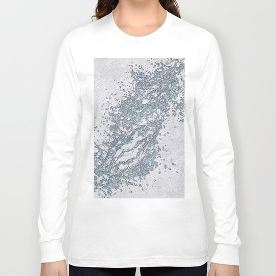 BE WATER MARBLE (abstract) Long Sleeve T-shirt