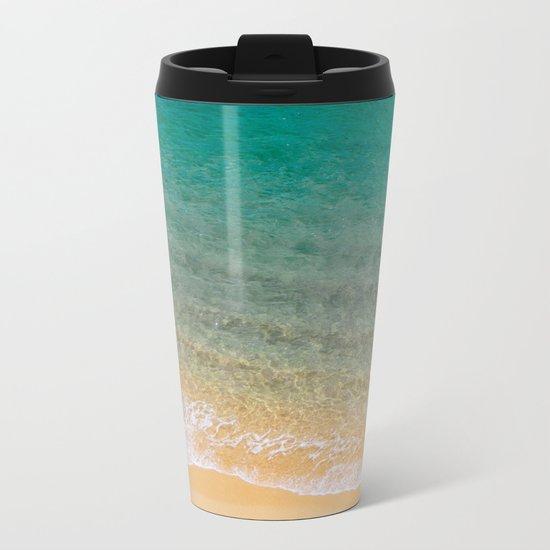 Tropical Paradise Metal Travel Mug