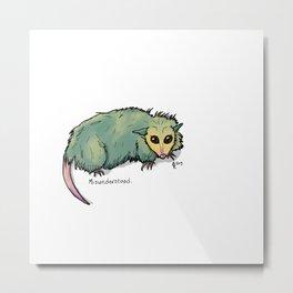Opossumble Metal Print