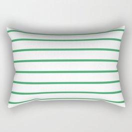 Kelly Green Breton Stripes Rectangular Pillow