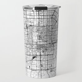Beijing White Map Travel Mug