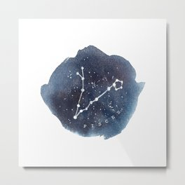 pisces constellation zodiac Metal Print