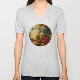 """""""Baroque Spring of Flowers and Butterflies"""" Unisex V-Neck"""
