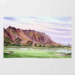 Koolau Golf Course Hawaii 16th Hole Rug