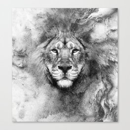Lion Black and White Canvas Print