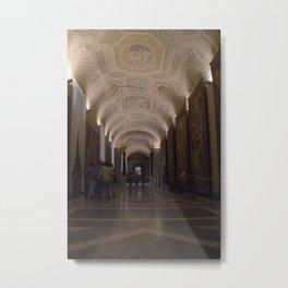 Hallway in the Vatican Metal Print