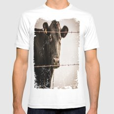 How Now, Brown Cow? White MEDIUM Mens Fitted Tee