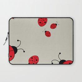 Ladybugs-Beige+Red Laptop Sleeve