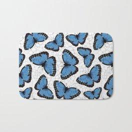 Blue morpho butterflies Bath Mat