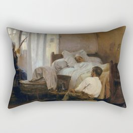 The first Born by Gaston La Touche - French Realism Rectangular Pillow