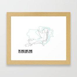 The Rock, OH - Minimalist Summer Trail Art Framed Art Print