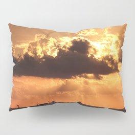 Sunset of Jeju sea in Korea. Pillow Sham