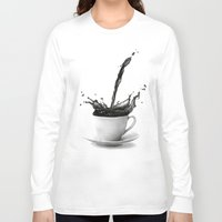 coffe Long Sleeve T-shirts featuring Coffee by Thubakabra